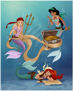 Pirate Mermaids: Commission by madmoiselleclau on deviantART
