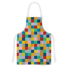 Colour Blocks Zoom by Project M Geometric Rainbow Artistic Apron