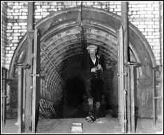 A worker emerges from the Ely subway on the day of closure in 1963 Cardiff Bay, Cardiff Wales, Classy Photography, Cymru, South Wales, Picture Show, Old Photos, Past, Ely
