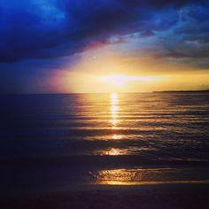 Bello atardecer! #Sunset, #beach