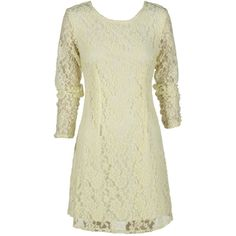Pale Yellow Long Sleeve Lace Dress and other apparel, accessories and trends. Browse and shop 1 related looks.