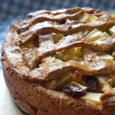 gezonde appeltaart met havermout en amandelmeel