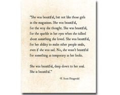 She Was Beautiful F. Scott Fitzgerald Quote Love Romantic Quote Golden Quote Inspirational Quote Anniversary Print Literary, Fine Art Print