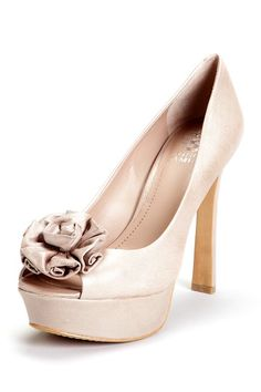 Vince Camuto Blossom Open Toe Pump @Lisa Jacobs @Christina Schaible