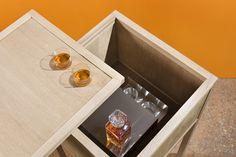 Mobile bar | Collezione Wunderbuffet | Rovere termotrattato certificato Pefc | Pannelli speciali sandwich Legno-isolante coibentati per il mantenimento della temperatura interna | www.warmandwood.com
