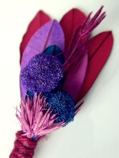 Concord Grape Ice Cream - Red Pink Purple Blue Boutonniere