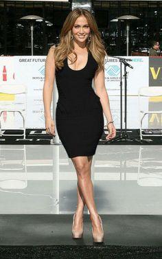 Black Jennifer Lopez Herve Leger Bandage Dress U-Neck