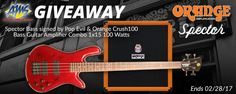 win a Spector Performer bass signed by the band Pop Evil. Plus an Orange Crush 100 Bass Amp to rock on. Ends Feb 28th. A $969 Value!  http://woobox.com/wzacsy/iin838