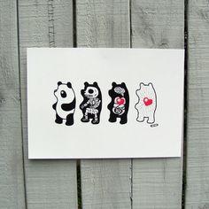 Panda Anatomy A4 Giclée Art Print by thestateofthings on Etsy, $29.99