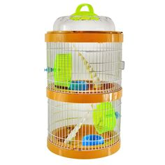 Jaula Conejo Hamster House Juguetes Pet Hamster Cage Luxury Villa Breeding Double With Drinking Running Wheel Stairs Small Bowl