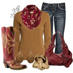 """""""Fall Cowgirl"""" by liz-higgins on Polyvore"""