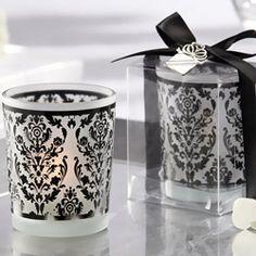 Damask votive candles for decor or favors
