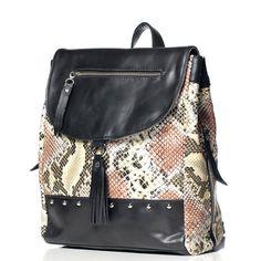 Mochilas de Cuero - Animal Print - Vibora - VESKI Chile Encuentrala en http://veski.cl  Leather handbag - animal print