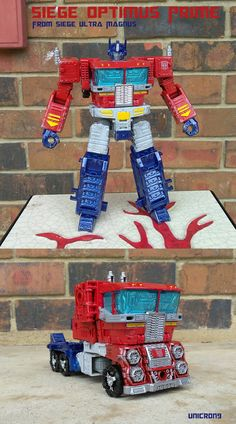 Siege Optimus Prime From Ultra Magnus by on DeviantArt Transformers Robots, Transformers Characters, Transformers Action Figures, Optimus Prime, Ultra Magnus, 4th Birthday, Mixed Media, Old Things, Bee