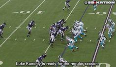 Luke Kuechly in midseason form against Ravens, here's the GIF to prove it - Gamedayr : Gamedayr