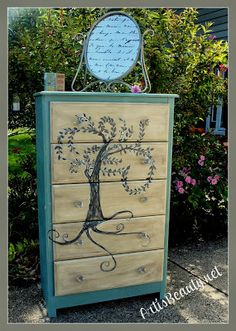 ART IS BEAUTY: Laminate Furniture can be BEAUTIFUL too! Willow Tree Dresser