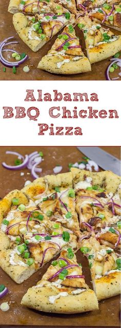 Mix up pizza night with a batch of Alabama White BBQ Sauce! This Alabama Style BBQ Chicken Pizza is a delicious combination of flavors! Entree Recipes, Pizza Recipes, Cat Recipes, Dinner Recipes, Wheat Pizza Crust Recipe, Pizza Games, Pizza Pizza, Carolina Bbq Sauce, White Bbq Sauce