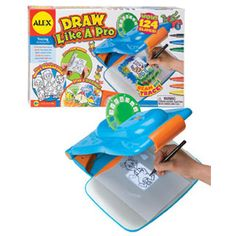 $47.99 - Draw Like A Pro is a fun and easy way to draw!• rTurn down the lights, switch on the projector, insert a pre-printed slide and trace away.• Comes with 124 slides!• Also includes six markers.• Ten sheets of paper and a flip book.• Alex?s Draw Like A Pro requires 3 AA batteries (not included).