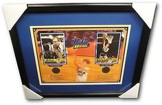 John Wooden Bill Walton Dual Signed Autographed 12x16 W/ 2 4x6 Cards COA Framed