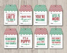 ► DIY printable gift tags -- Keep it real this Holiday season with these funny gift tags!  { Mean Gift Tags} available in other colors (see