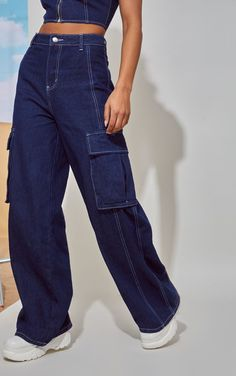 The Mid Wash High Waisted Wide Leg Jeans. Indie Outfits, Retro Outfits, Cute Casual Outfits, Vintage Outfits, Forever 21 Outfits, Wide Leg Jeans, High Waist Jeans, High Waisted Baggy Jeans, High Waisted Flares