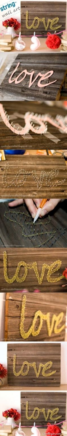 DIY wall art-string art