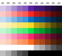 Nice color chart for plasti dip.