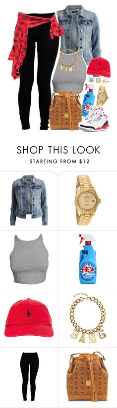 """""""Untitled #1465"""" by lulu-foreva ❤ liked on Polyvore featuring VILA, Rolex, Moschino, Polo Ralph Lauren, H&M, Boohoo and MCM"""