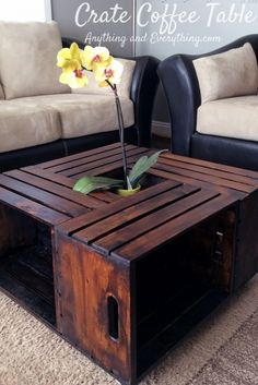 Excellent DIY Crate Coffee Table :: Hometalk – a friend suggested putting pet beds or pillows in each cubby for your cats or small dogs. The post DIY Crate Coffee Table :: Hometal . Wooden Crate Coffee Table, Diy Coffee Table, Coffee Table Made From Crates, Diy With Crates, Wood Table, Pallet Coffee Tables, Pallet Furniture Coffee Table, Cheap Crates, Wood Crate Diy