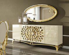 Mirrored Furniture, Living Furniture, Luxury Furniture, Furniture Decor, Living Room Decor, Furniture Design, Luxury Dining Room, Dining Room Design, Home Decor Accessories