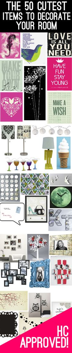 Spruce up your room with these 50 cute items!