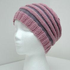 Rillelue barn/dame (oppskrift) | MAJAS HOBBYKROK Knitted Hats, Beanie, Knitting, Crafts, Beanies, Dots, Tejidos, Tricot, Threading