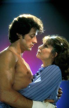 """Sylvester Stallone & Talia Shire en """"Rocky III"""""""