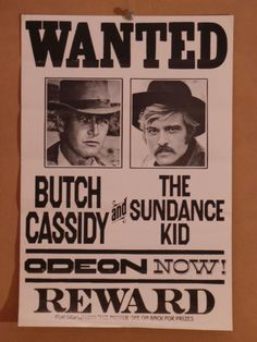 Butch Cassidy and the Sundance Kid Vintage Movie Poster - at SimonDwyer.Com