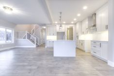Built by Truman. Cornerstone single family spec home in Calgary, Alberta features hardwood floors, white cabinets, and so much more. By Truman Homes. Planer Layout, House Ideas, Floor Plan Layout, Basement Remodeling, Remodeling Ideas, House Inside, Interior Design Living Room, Interior Paint, Home Look