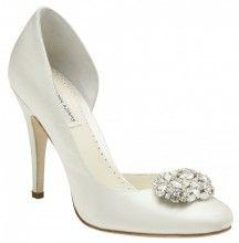 jewelled heel wedding shoe