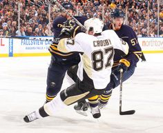 Sidney Crosby Pittsburgh Penguins vs Buffalo Sabres March 30