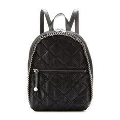 IN LOVE!!! Stella McCartney - Falabella faux suede mini backpack #bag #stellamccartney #designer #covetme