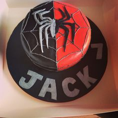 Spiderman/venom inspired cake