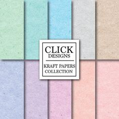 Kraft Digital Paper: KRAFT PAPERS PASTEL by ClickDesigns on Etsy