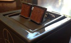 Denison Boston Havanna leather cufflinks $55 from Gotstyle Menswear.