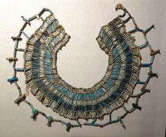 Necklace, Egypt, 26th to 30th Dynasty, about 664-332 BC, faience, carnelian, and limestone beads - Fitchburg Art Museum