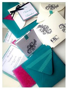 Pink glitter and teal #bachelorette party #invitations  #madebyhand by Princess K Creations   always #handmade all the time