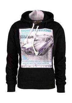 Herren Pullover Kapuze Hoodie Sweatshirt Cars schwarz Gr.L
