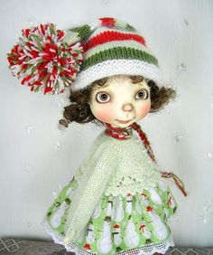 Snowmen on Green, Outfit made by Ulla for Connie Lowe Sprocket, Sprockets #ClothingAccessories