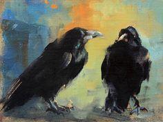 I'm Listening'' by Fran Kievet Oil ~ 6 x 8