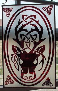Celtic Stag by christi Celtic Mythology, Celtic Symbols, Celtic Art, Celtic Patterns, Celtic Designs, Paper Cutting, Celtic Animals, Hirsch Tattoo, Stag Tattoo