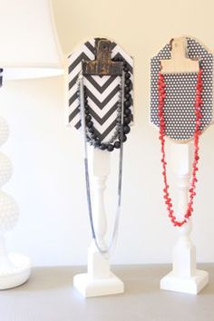 Cool DIY Necklace Stand made from upcycled finds via @salvagedboutiq. Pretty for highlighting a special piece of jewelry. http://thestir.cafemom.com/home_garden/188688/17_genius_gorgeous_diy_jewelry