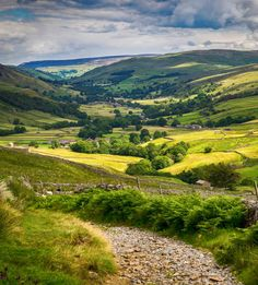 Along the Pennine Way in the Yorkshire Dales.