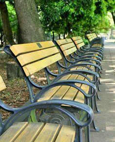 Pick your chair.. by Shorouq, Hibiya park, Tokyo, via Flickr